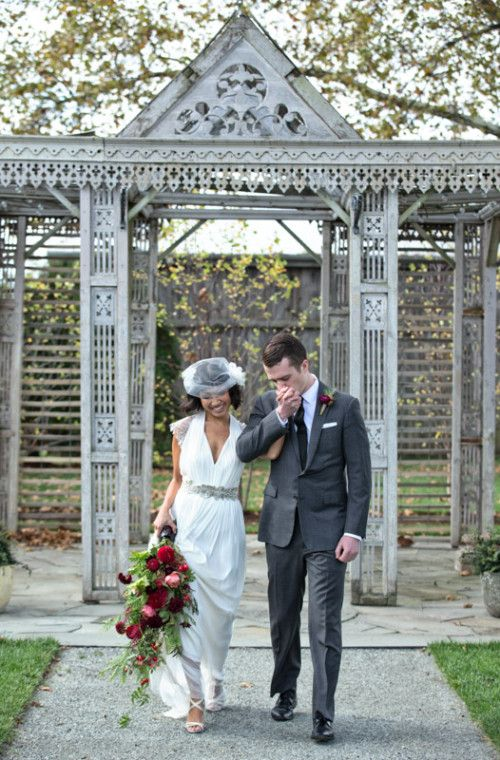 autumn wedding inspiration on @Design*Sponge  featuring the Laverne Gown by @catherine gruntman Deane for BHLDN