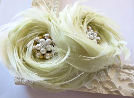 Wedding Hair Accessories Feather Fascinator by parfaitplumes, $35.00