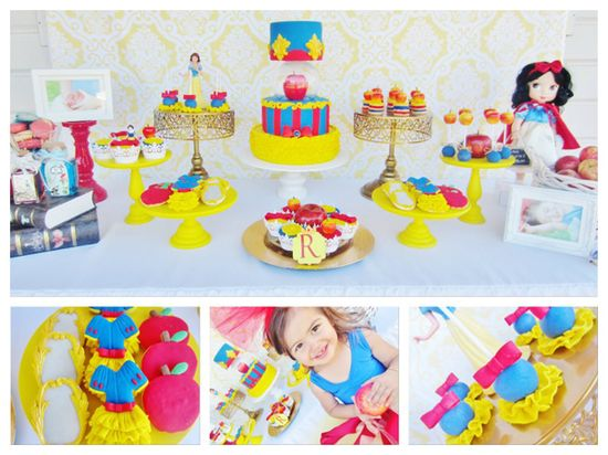 Snow White Birthday Party via Karas Party Ideas KarasPartyIdeas.com #snow #white #princess #birthday #party #ideas