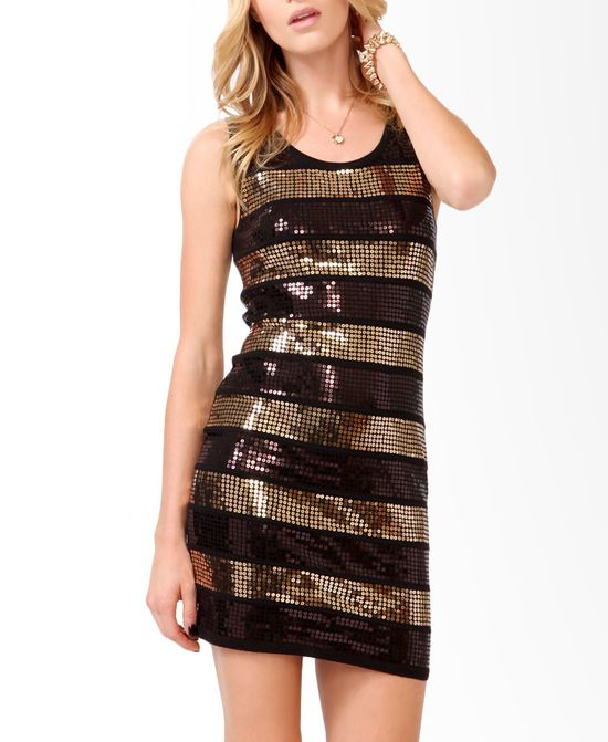 Sequined Panel Mini Dress #musthave
