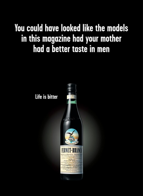 A rather depressing Danish Amaro ad. For the pessimists. #advertising