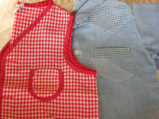 Vintage baby boy diaper shirts, 1950's.