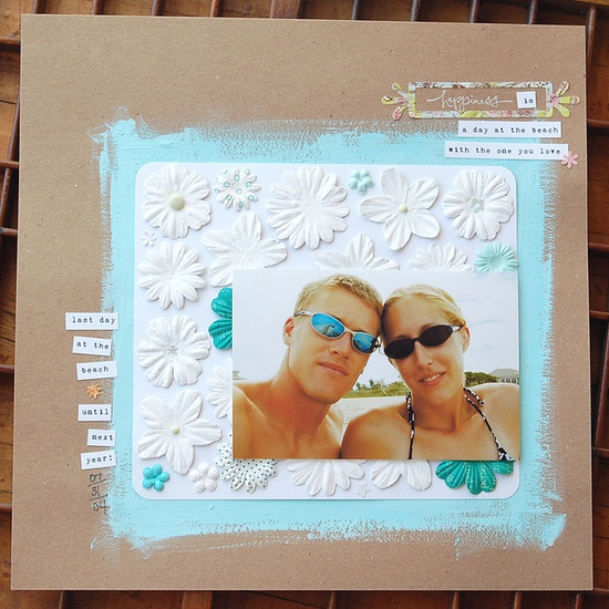 scrapbook beach layout