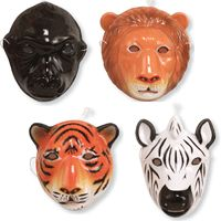 Wild Animals Masks make great party favors for a jungle birthday party!