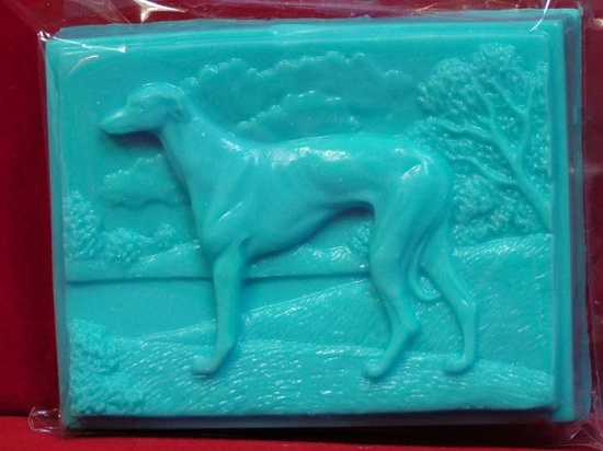 Victorian Greyhound or Whippet soaps