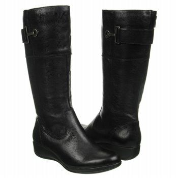 Anne Klein Eliseo Boots (Black Leather) - Women's Boots - 10.5 M