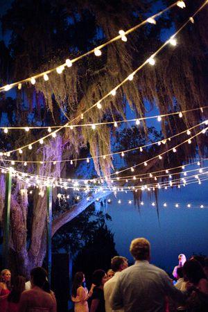 bistro string lighting