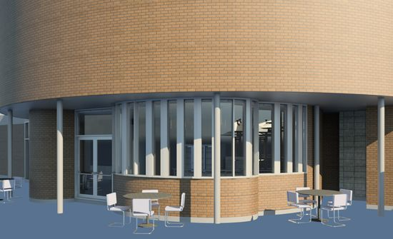 Title: Fitzroy Pool - Exterior Cafe Perspective Name: Jodi Miles  Program: Diploma of Interior Design and Decoration  #RMIT  #CreativeFest