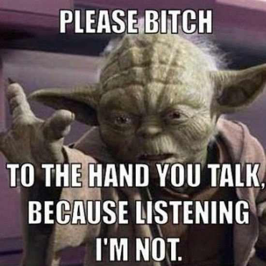 From instagram (Pinned via #tagboard) true to form yoda you are