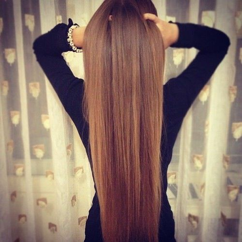 I wish I could get my hair this straight!