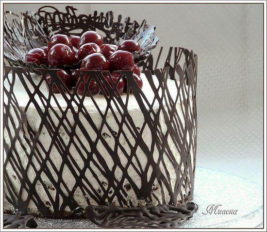 Brilliant chocolate decoration