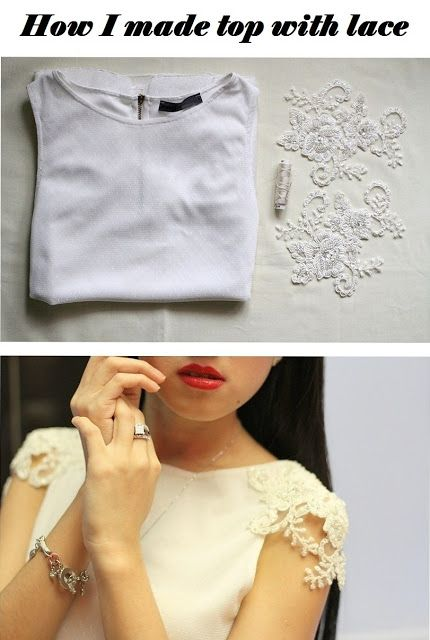 how to make a romantic blouse with silk lace sleeves // could be good for when refashioning clothes like upgrading a piece you have to something more feminine.