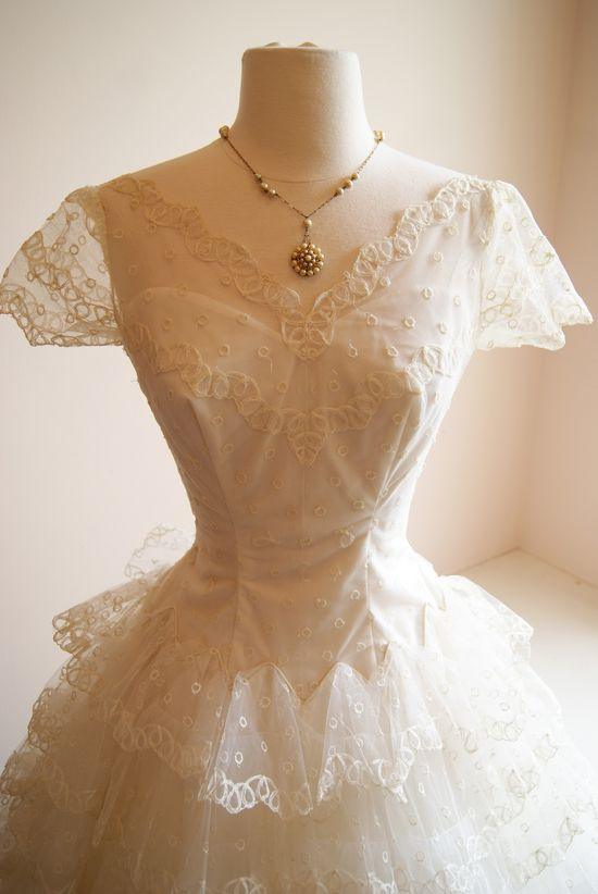 vintage wedding dress / 1950s wedding dress at Xtabay Bridal.