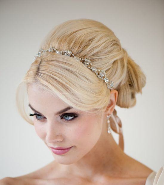 Wedding Headband Bridal Rhinestone Headband by PowderBlueBijoux, $54.00