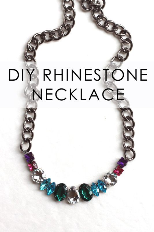 Make a DIY multicolored jeweled necklace - National DIY Fashion