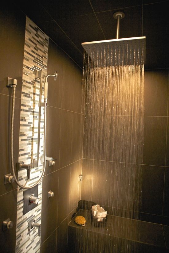 Check out this shower!  Fancy touch for a modern home! #home For guide + advice on lifestyle, visit www.thatdiary.com