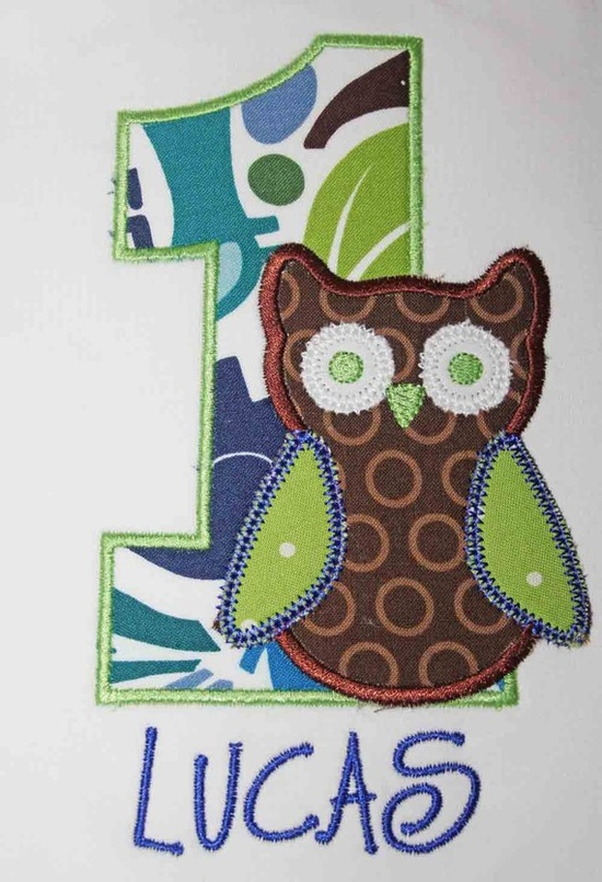 Shirt for owl birthday party.