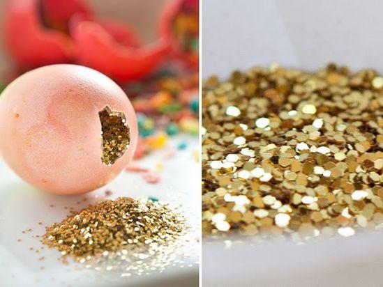 glitter confetti eggs