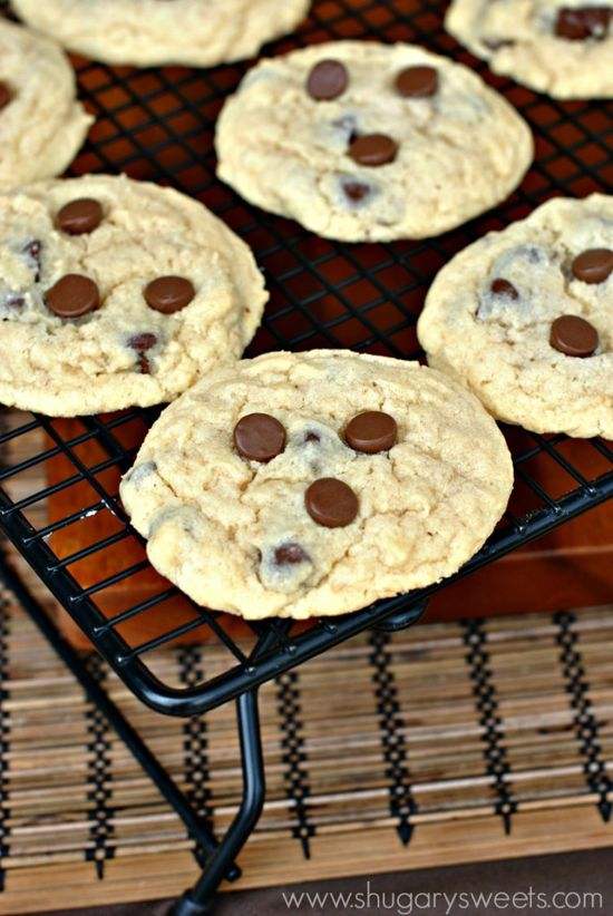 Chewy Sugar Cookies with Chocolate chips