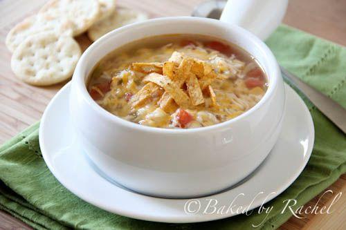 Slow Cooker Chicken Tortilla Soup from bakedbyrachel.com