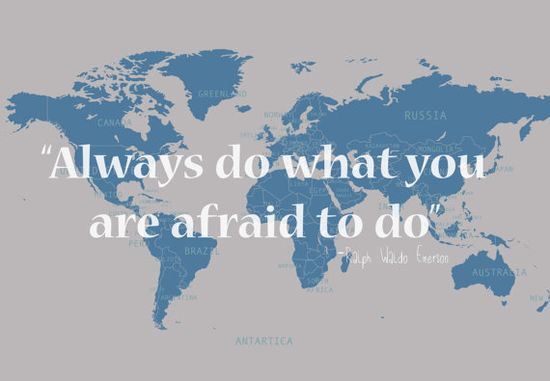 Map with Travel Quote by Jivana on Etsy