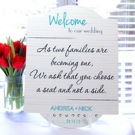 Cathy's Concepts WS50 Wedding Reception Seating Chart Sign #wedding