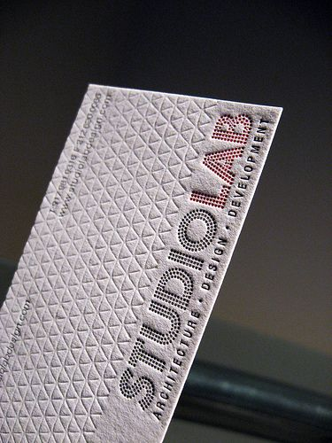 Studio Lab Letterpress Business Cards - Logo Closeup  #business #card