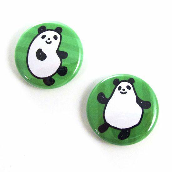 Jelly Pandas Button Set #handmade #craft #button #badge #pin #panda