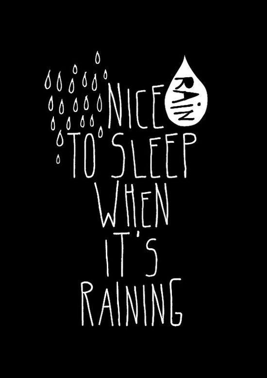 Rain Black  Typography poster