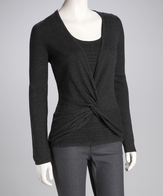 Charcoal Twist Front Top