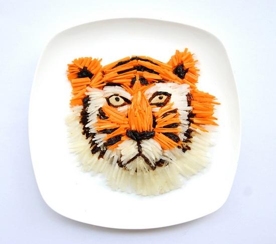 Tiger Plate #food #art