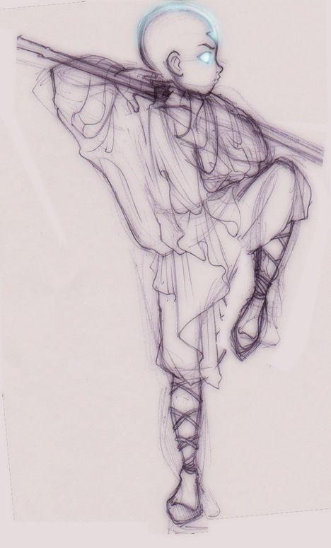 Aang sketch by *mree