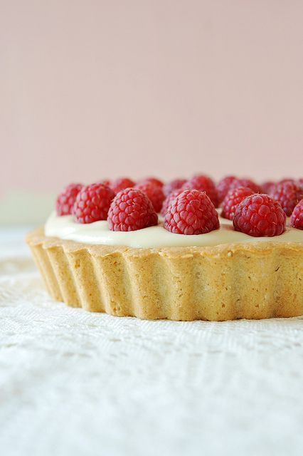 Raspberry and Cream Tart