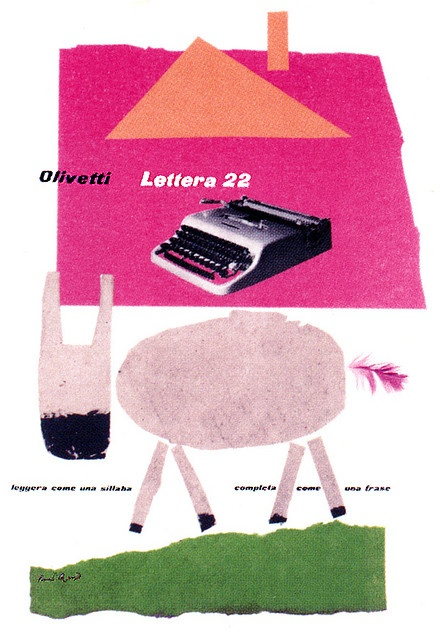 Olivetti Lettera 22 Poster, designed by Paul Rand. via ninonbooks