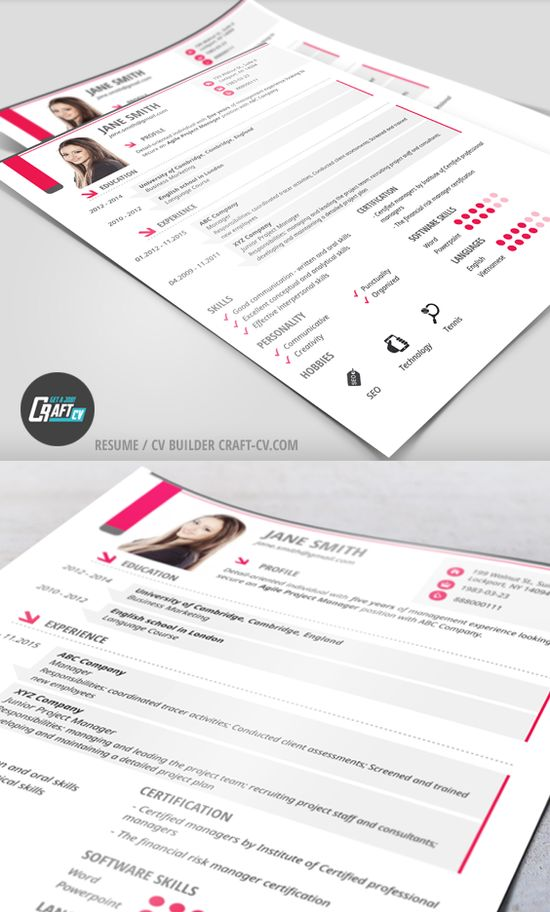CraftCv   CV\/ Resume Builder (craftcv) Pinterestissä   Creative Resume  Builder  Creative Resume Builder