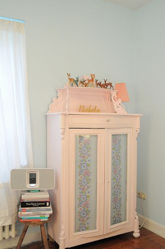 Pink dresser. Cute!