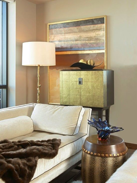 Beautiful living #room #design using shades of #gold #kitchen design ideas #kitchen design #kitchen decorating before and after