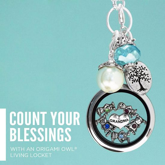Count your blessings with an Origami Owl Living Locket!