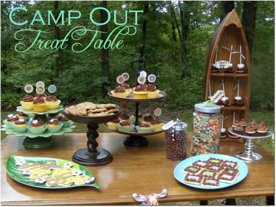 Camp out Treat Table