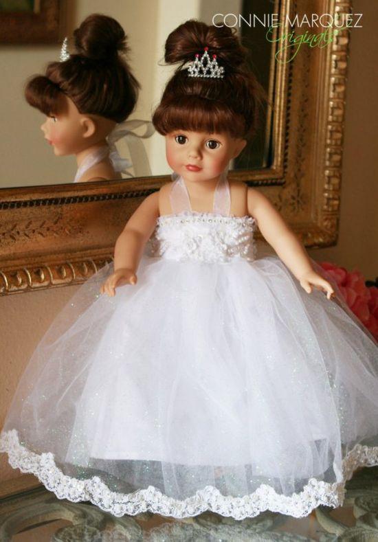 Princess Wedding doll dress for American Girl