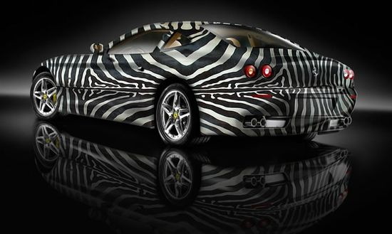 Custom Auto Paint Job – Sports Cars Dressed Up as Zebras