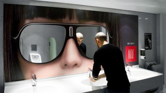 Creative sunglasses ad