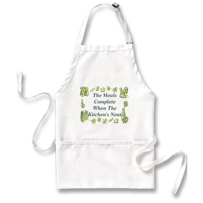 'The Meal's Complete when the Kitchen's Neat' Apron by bwmedia