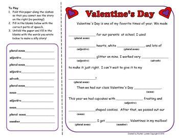 Free!!!   Valentine's Day fun Mad Lib type activity!