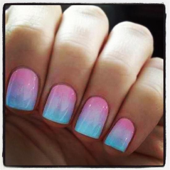 The nails are really cute I will do this some day ????