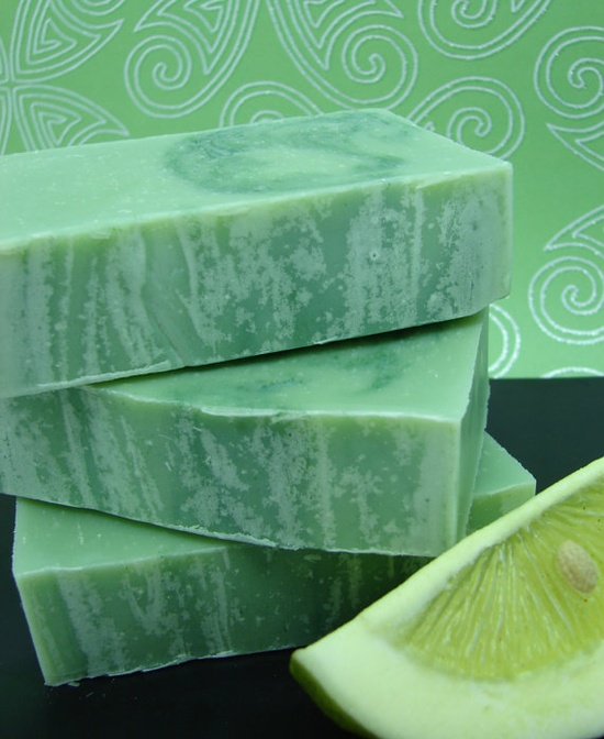 Lime Cilantro Handmade Vegan Cold Processed Soap
