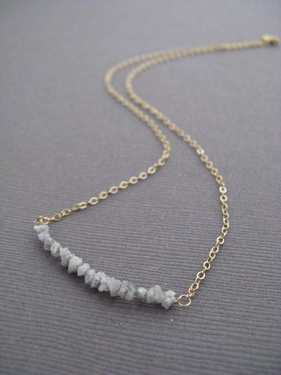Rough Diamonds Modern Necklace