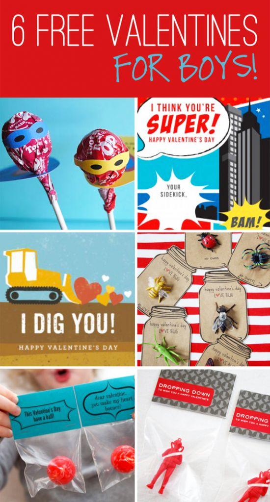 6 boys valentine ideas!