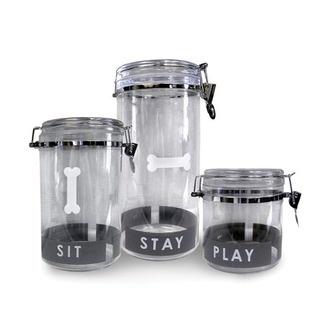 Cute pet treat jars.