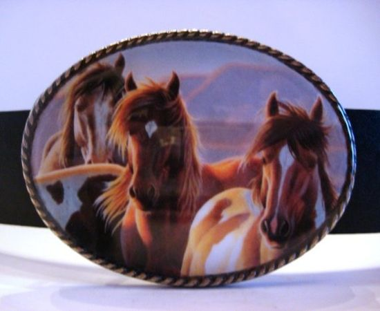 Horse Belt Buckle by MnMTreasures on Etsy, $20.00
